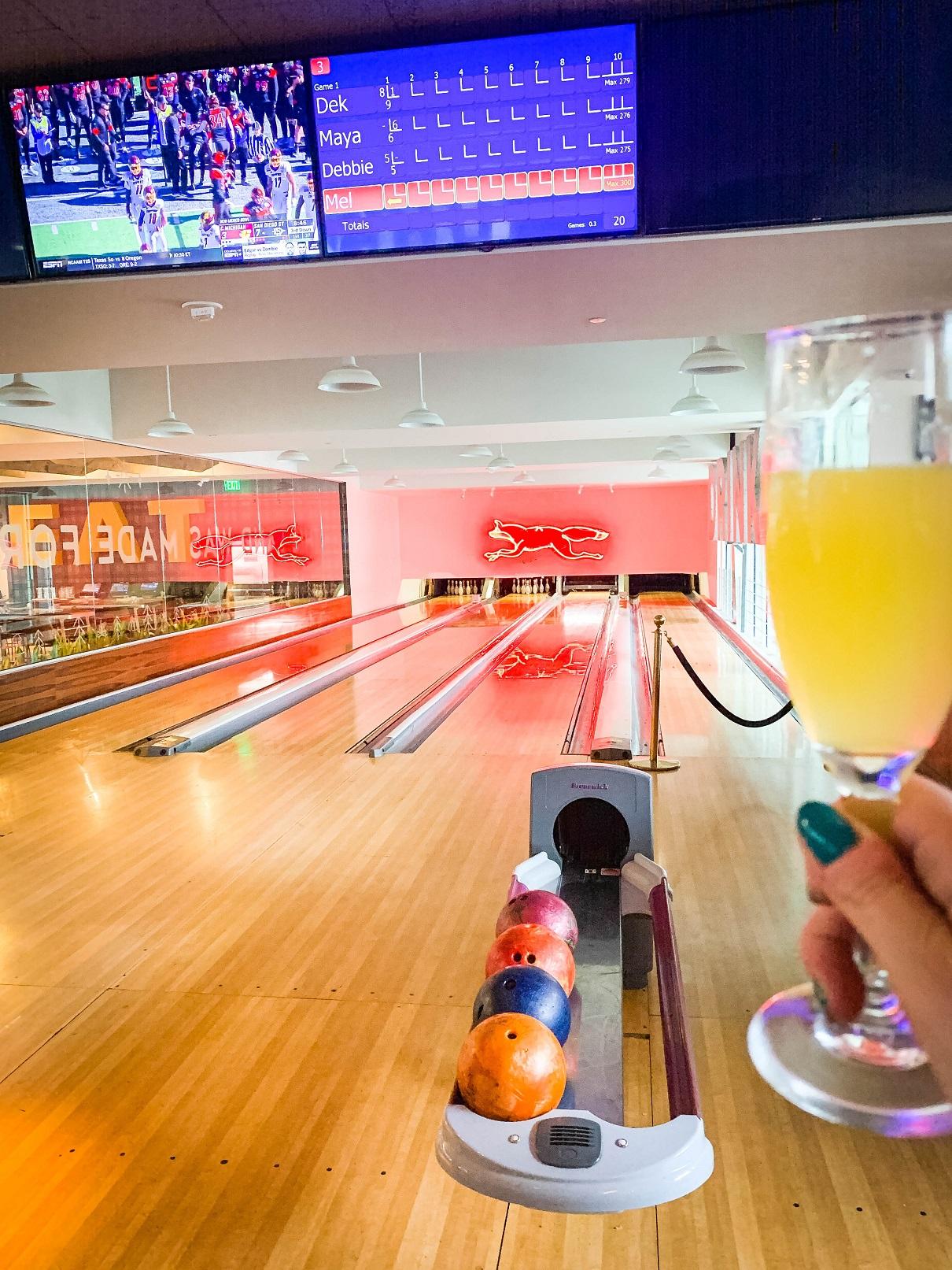 boozy bowling
