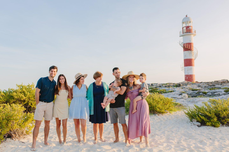 beach sunrise family photoshoot in cancun, mexico